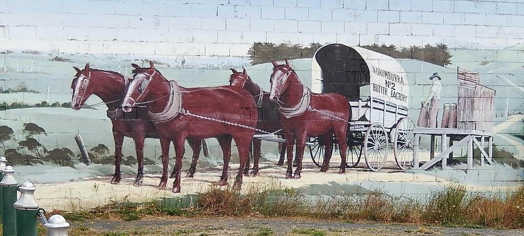 Horses & Wagon Mural, Korumburra