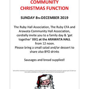 Arawata Ruby Xmas Function Flyer 1
