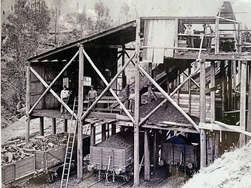 historic coal processing shed Coal Creek Korumburra