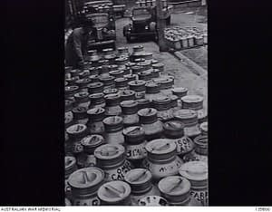 milk cans korumburra butter factory 1943