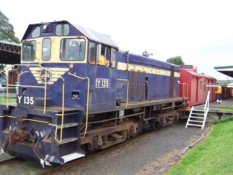 Korumburra Railway - diesel y-class engine