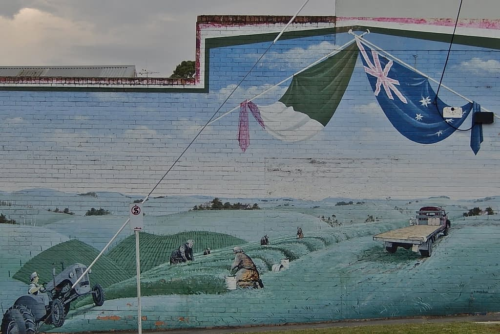 Mural at Italian Club, Korumburra