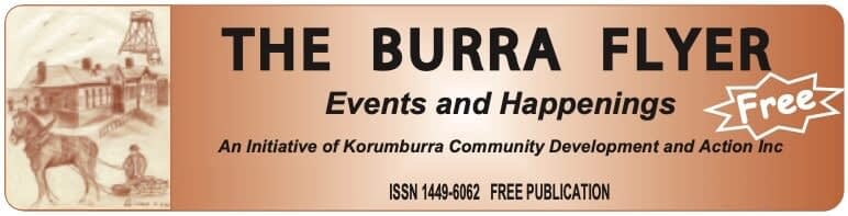 burra flyer banner - click to download past editions